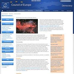 Spectator violence – Europarådet