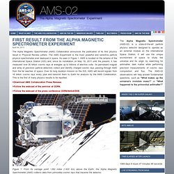AMS-02 » Archive » First Result from the Alpha Magnetic Spectrometer Experiment