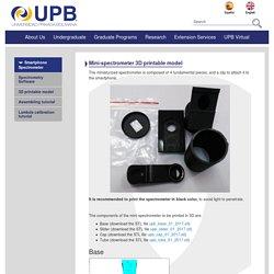 Mini-spectrometer 3D printable model