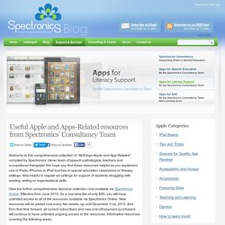 Useful Apple and Apps-Related resources from Spectronics' Consultancy Team