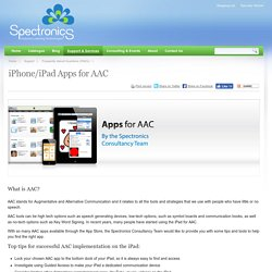 iPhone/iPad Apps for AAC : Spectronics - Inclusive Learning Technologies
