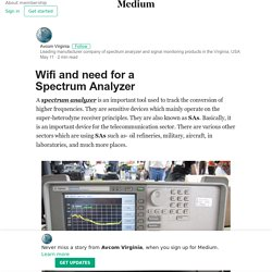 Wifi and need for a Spectrum Analyzer – Avcom of Virginia