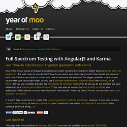 Full-Spectrum Testing with AngularJS and Karma
