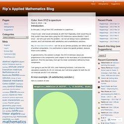 Rip's Applied Mathematics Blog