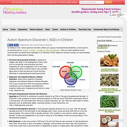 Autism Spectrum Discorder ( ASD) in Children
