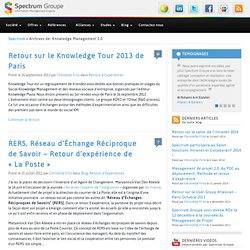 Knowledge Management 2.0 | Spectrum Groupe