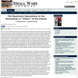 "Full Spectrum Operations in the Homeland: A ""Vision"" of the Future"