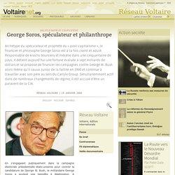 George Soros, spéculateur et philanthrope
