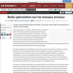 Médias & Publicité : Bulle spéculative sur les réseaux sociaux