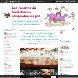 Cake praliné spéculoos (hyper moelleux) de Christophe Felder au companion, thermomix ou sans robot - Les recettes de sandrine au companion ou pas
