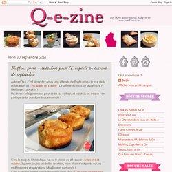 Muffins poire - speculoos pour l'Escapade en cuisine de septembre
