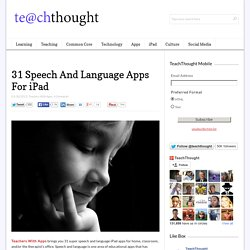 31 Speech And Language Apps For iPad