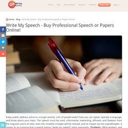 Write My Speech: Creation of Top Texts for Public Statements