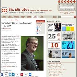 Speech Critique: Ken Robinson (TED 2006)