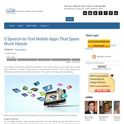 5 Speech-to-Text Mobile Apps That Spare Much Hassle