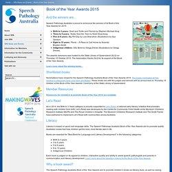 Speech Pathology Australia - Book of the Year Awards 2015