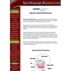 Speech Sound Structures