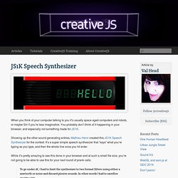 JS1K Speech Synthesizer