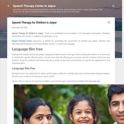 Speech Therapy for Children in Jaipur
