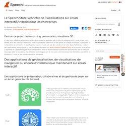 Le SpeechiStore s'enrichit de 10 applications sur écran interactif