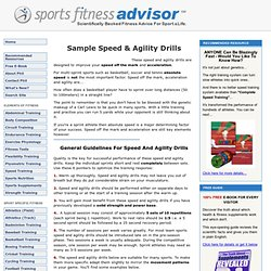Speed And Agility Drills... The First 5 Yards Are In Your Head!