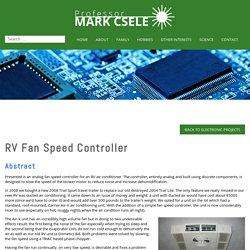 » RV Fan Speed Controller