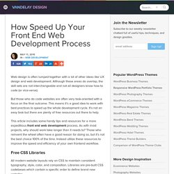 How To Speed Up your Front End Web Development Process