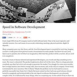 Speed in Software Development
