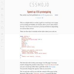 CSS Prototyping
