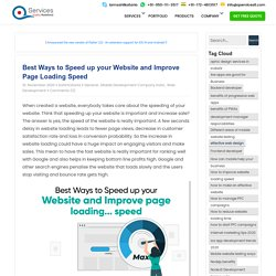 Best Ways to Speed up your Website and Improve Page Loading Speed