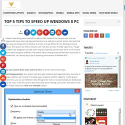 Top 5 Tips To Speed Up Windows 8 PC - TalentLeopard