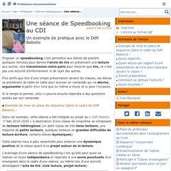 Une séance de Speedbooking au CDI - Doc'Poitiers - Le site des professeurs documentalistes