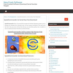 SpeedCommander 16 Serial Key Free Download - New Crack Software