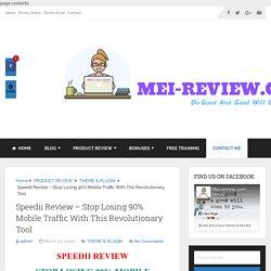 Speedii Review & Bonus - Load Faster, Rank Higher, Sell Better
