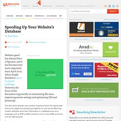 Speeding Up Your Website's Database - Smashing Magazine
