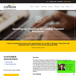 Speeding Up Lead Flow for Leading Payment Processor - B2B Lead Generation Company Malaysia