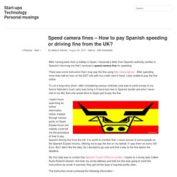 Speed camera fines – How to pay Spanish speeding or driving fine from the UK?
