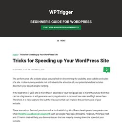 Tricks for Speeding up Your WordPress Site — WPTrigger