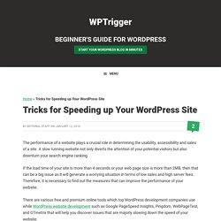 Tricks for Speeding up Your WordPress Site — WPTrigger