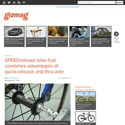 SPEEDrelease bike hub combines advantages of quick-release and thru-axle
