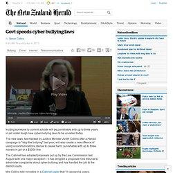 Govt speeds cyber bullying laws