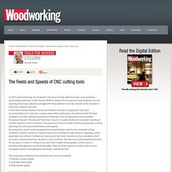 The Feeds and Speeds of CNC cutting tools - Woodworking Canada