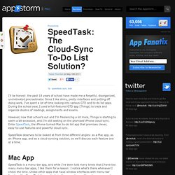 SpeedTask: The Cloud-Sync To-Do List Solution?