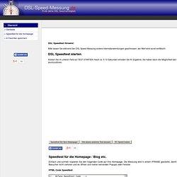 DSL Speedtest - sofort und online