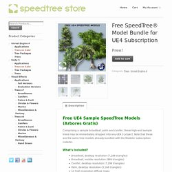 Free SpeedTree® Model Bundle for UE4 Subscription