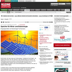 Speicher für Wind- und Solarenergie