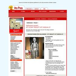 Spel och pyssel - Pyssel - HALLOWEEN - Halloween-skelett