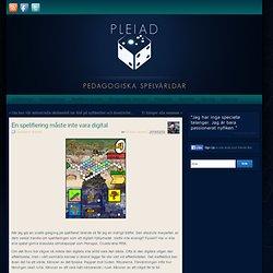En spelifiering måste inte vara digital » Pedagogiska Spelvärldar