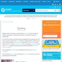 Oxford Dictionaries - Spelling