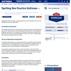 Spelling Bee Practice Software Free Download